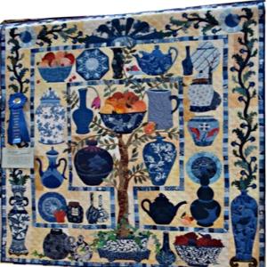 315T China Blues Ildi Tary quilt
